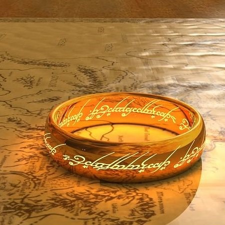 one ring lord of the rings 3d model stl