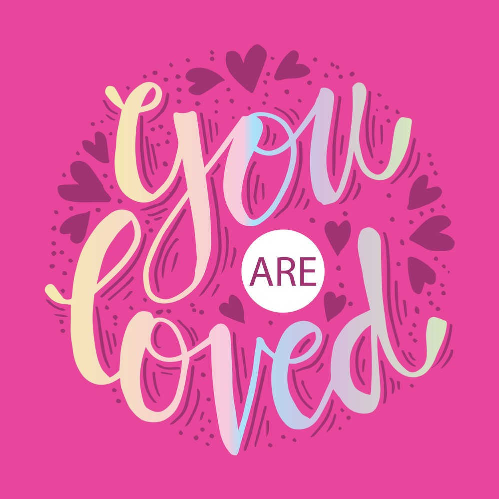 you are loved hand drawn typography poster vector 23842437